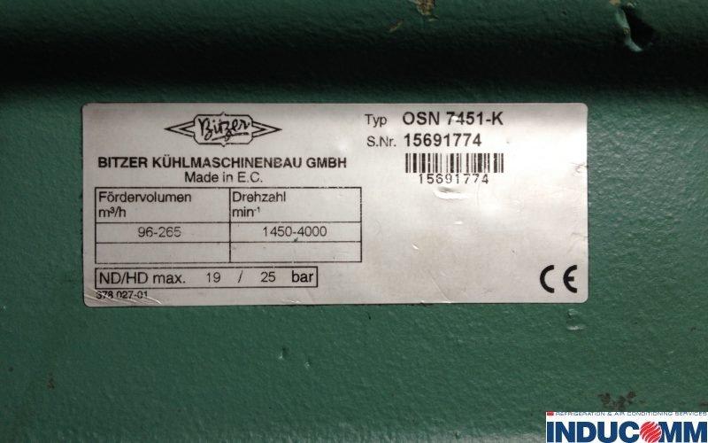 IS13 258 Compressor Nameplate