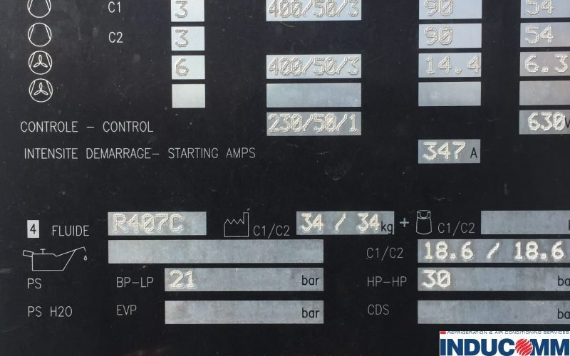 IS16 150 Chiller Nameplate